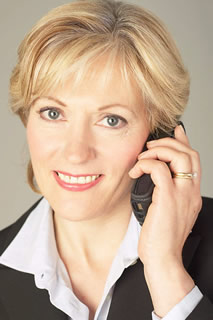 Science Businesswoman talking on cell phone 21 - Contact Us